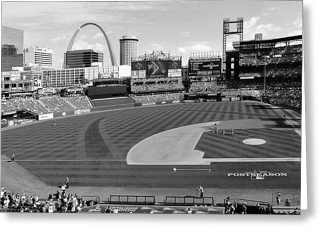 Shadows At Busch B-w Greeting Card