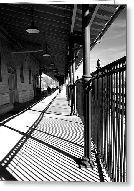 Greeting Card featuring the photograph Shadows At The Station by Denise Beverly