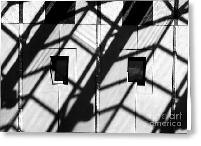 Shadows Canberra Greeting Card by Steven Ralser