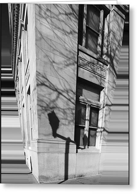 Shadows In The City Greeting Card by Dan Sproul