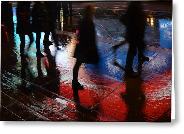 Shadows In The Nigth Greeting Card by Julia Moral