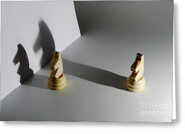 Shadows Of Different Size Greeting Card by GIPhotoStock