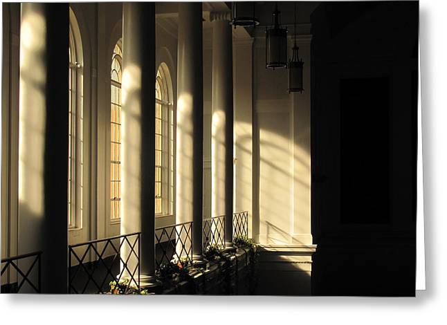 Shadows Of Light Greeting Card by Laura Watts