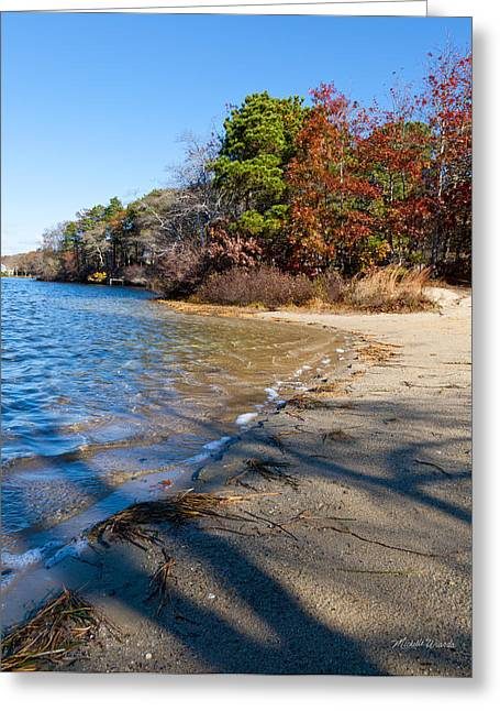 Shadows On Long Pond Greeting Card by Michelle Wiarda