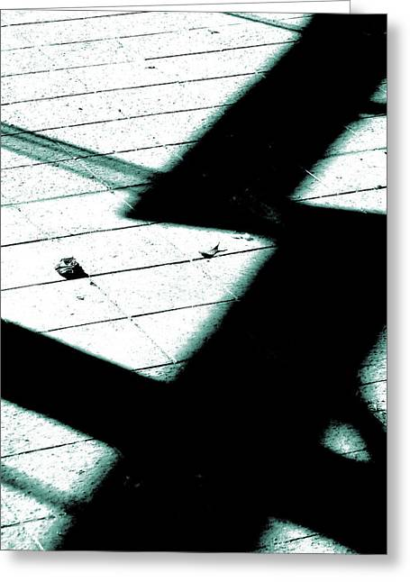 Shadows On The Floor  Greeting Card