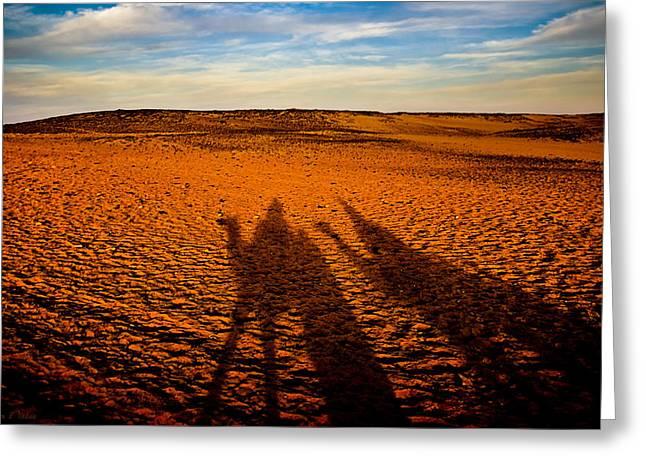 Shadows On The Sahara Greeting Card by Mark E Tisdale