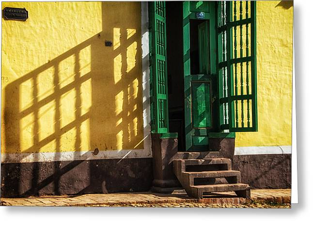Shadows On The Wall Greeting Card