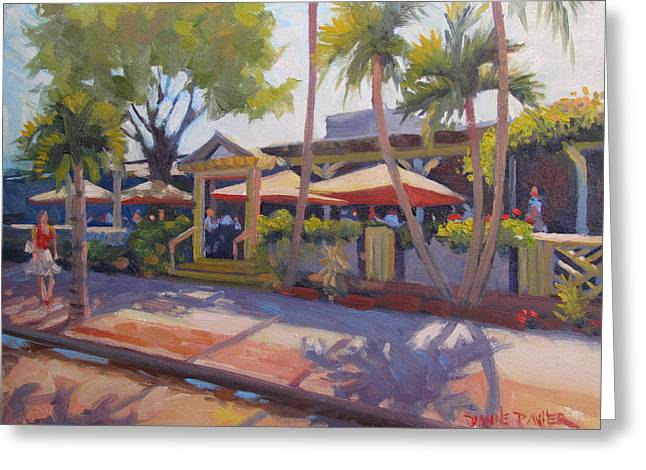 Shadows On Tommy Bahamas Greeting Card by Dianne Panarelli Miller