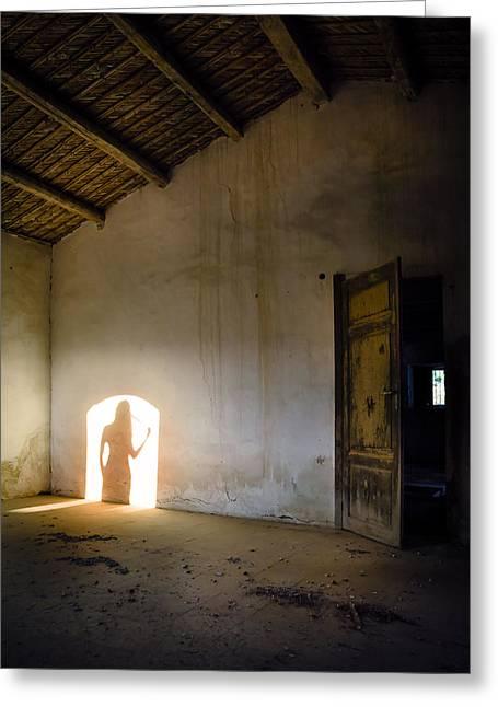 Shadows Reborn - Vanity Greeting Card by Alfio Finocchiaro
