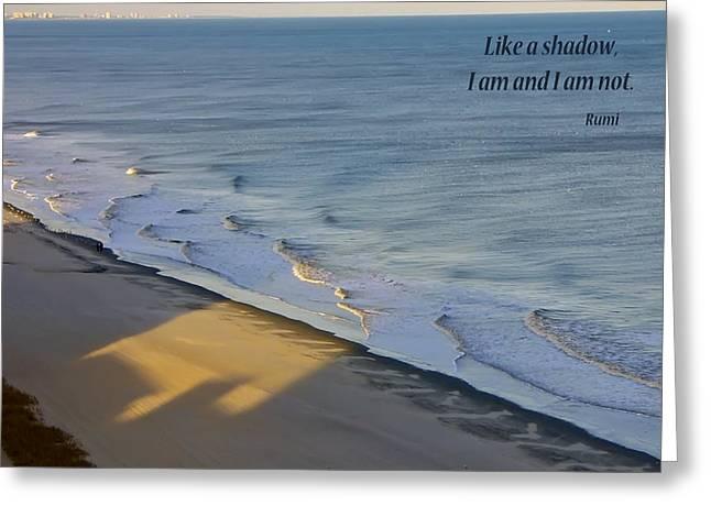 Shadows Greeting Card by Rhonda McDougall