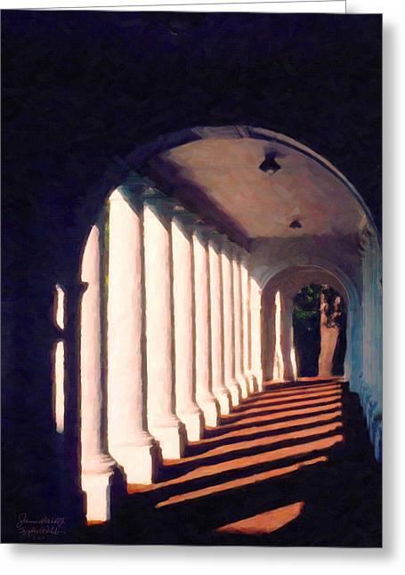 Shadows University Of Virginia Greeting Card