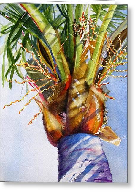 Shady Palm Tree Greeting Card