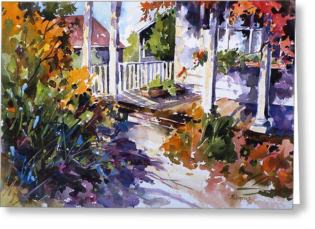 Shady Spot Greeting Card by Rae Andrews