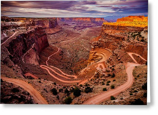Shafer Trail Horizontal Greeting Card