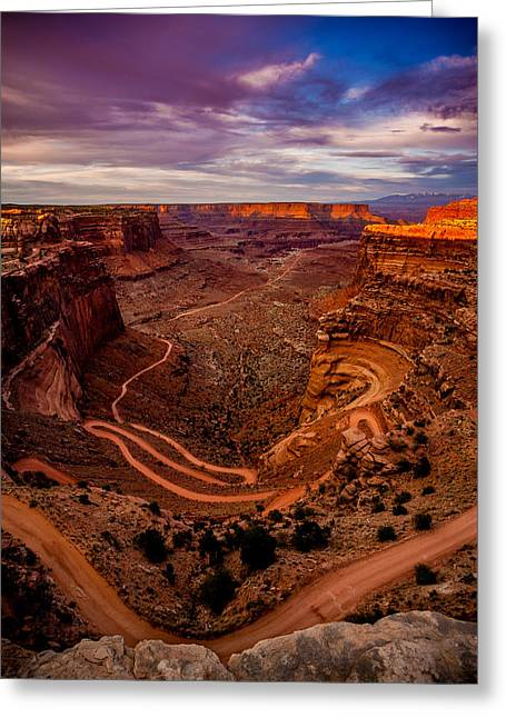 Shafer Trail Vertical Greeting Card