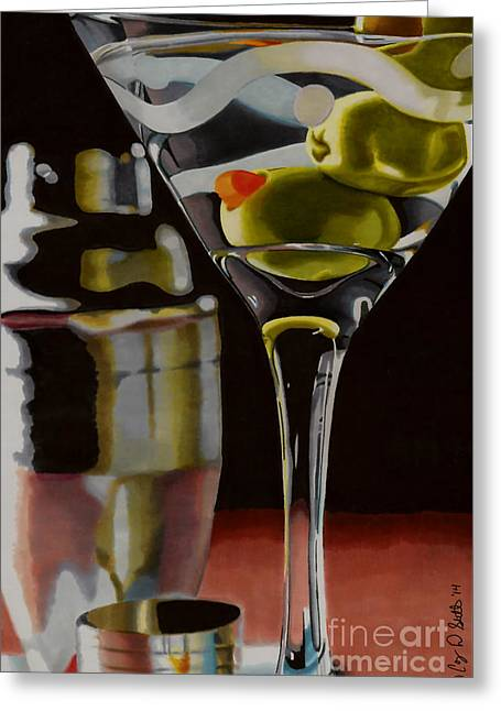 Shaken Not Stirred Greeting Card