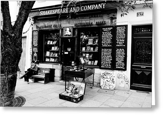 Shakespeare And Company Boookstore In Paris France Greeting Card