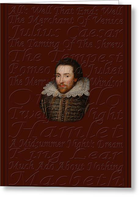 Shakespeare Greeting Card by Andrew Fare