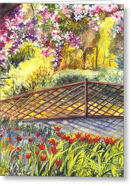 Shakespeare Garden Central Park New York City Greeting Card by Carol Wisniewski