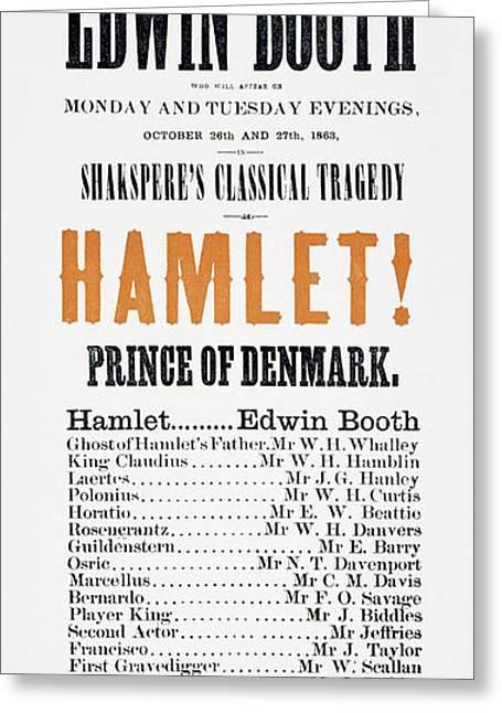 Shakespeare Hamlet, 1863 Greeting Card by Granger