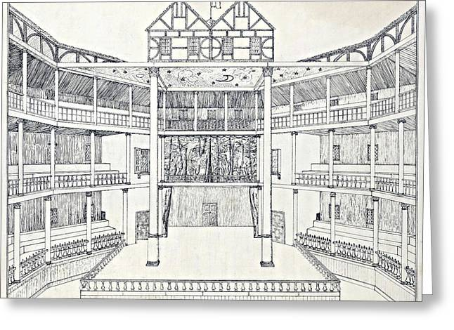 Shakespeares Globe Theatre Greeting Card by Folger Shakespeare Library