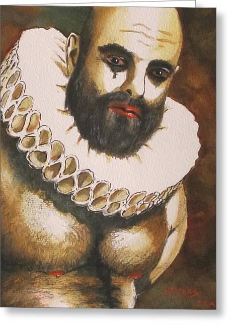 Shakespearian Bear Greeting Card by Michel Jutras