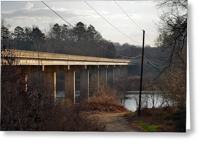Shallowford Bridge Over The Yadkin- 51008732b Greeting Card by Paul Lyndon Phillips