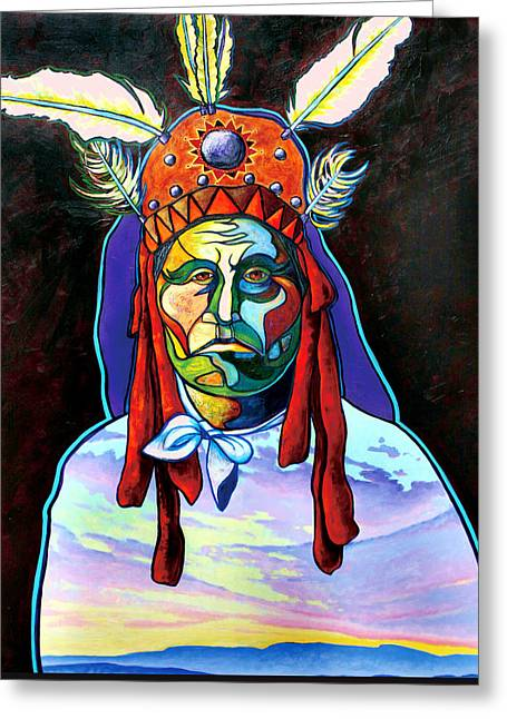 Shamans Power Greeting Card by Joe  Triano