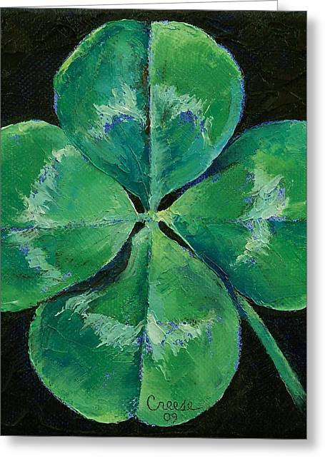 Shamrock Greeting Card by Michael Creese