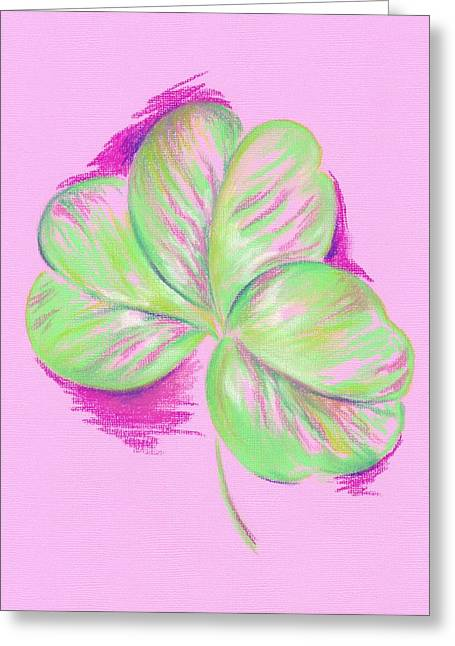 Shamrock Pink Greeting Card by MM Anderson
