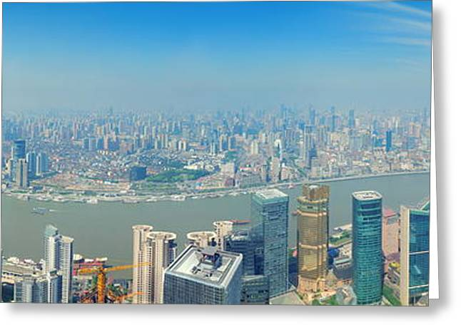 Shanghai Panorama Greeting Card