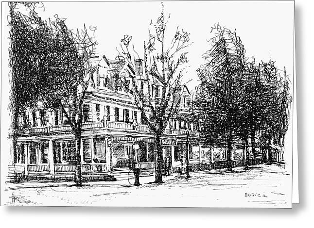 Shanley Hotel Greeting Card by Monica Cohen