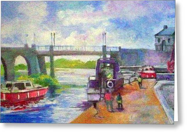 Shannon Bridge Co Offaly Greeting Card by Paul Weerasekera