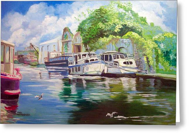 Shannon Harbour Co Offaly Ireland Greeting Card by Paul Weerasekera