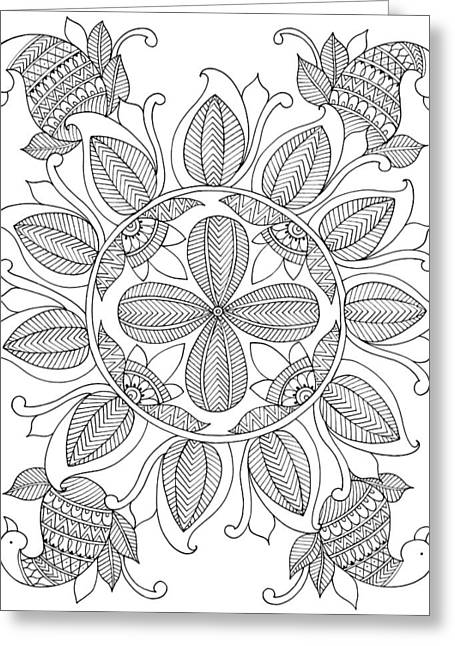 Shape Pattern 12 Greeting Card