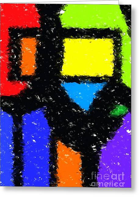 Shapes 8 Greeting Card by Chris Butler