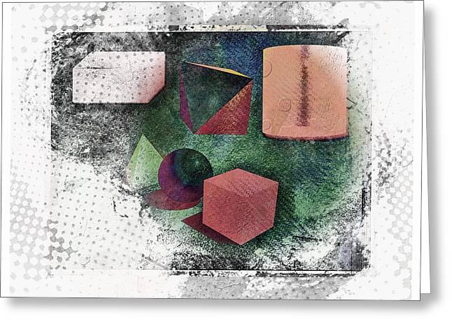 Shapes Greeting Card by Allen Beilschmidt