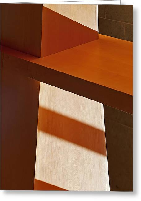 Shapes And Shadows Greeting Card by Ernie Echols