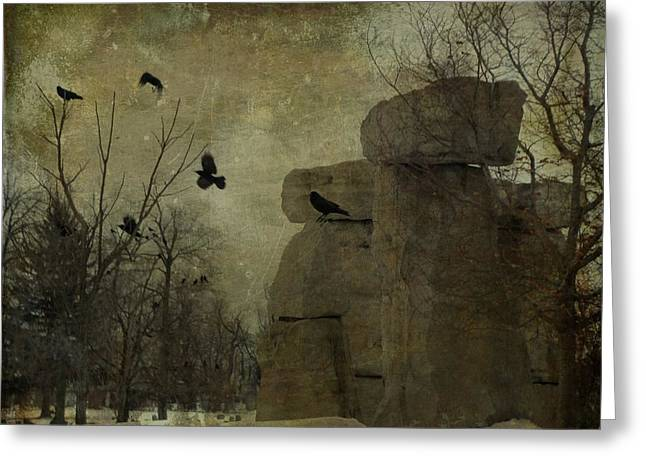 Stone Cold Shapes Greeting Card by Gothicrow Images