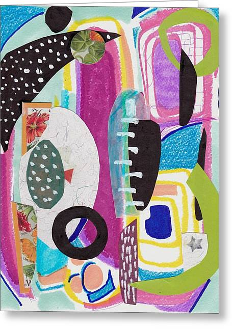 Shapes In Space Greeting Card
