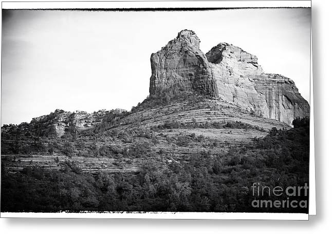 Shapes Of Oak Creek Canyon Greeting Card by John Rizzuto