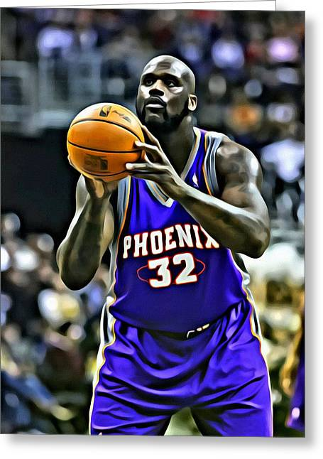 Shaquille O'neal Greeting Card by Florian Rodarte