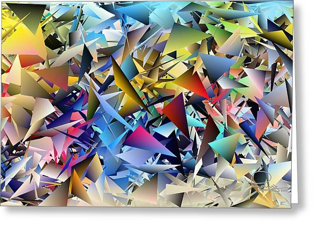 Shards 2 Greeting Card by Ludwig Keck