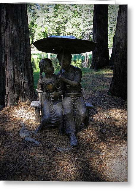 Share My Umbrella Greeting Card by Frank Wilson