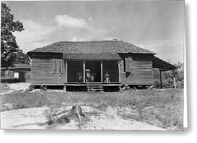 Sharecropper Home, C1935 Greeting Card by Granger