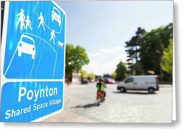 Shared Space In Poynton Greeting Card