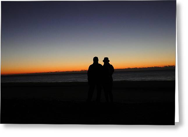 Sharing The Moment Greeting Card by Cindy Croal