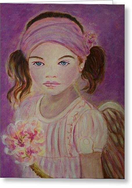 Sharissa Little Angel Of New Beginnings Greeting Card by The Art With A Heart By Charlotte Phillips
