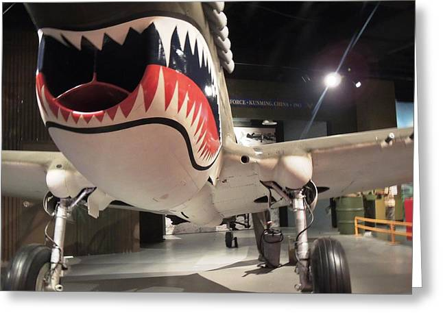 Greeting Card featuring the photograph Shark Aircraft by Aaron Martens