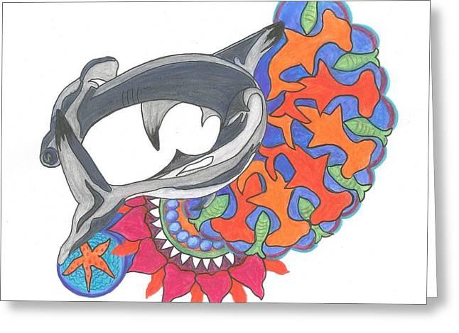 Shark Art Greeting Card